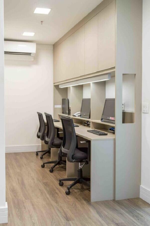 mesa de escritório para bancada de trabalho Foto Rocha Andrade Arquitetura
