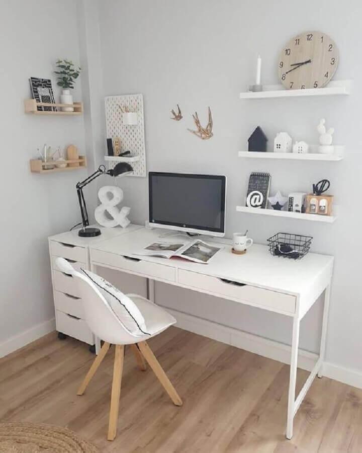 mesa de escritório simples com gaveta Foto Pinterest