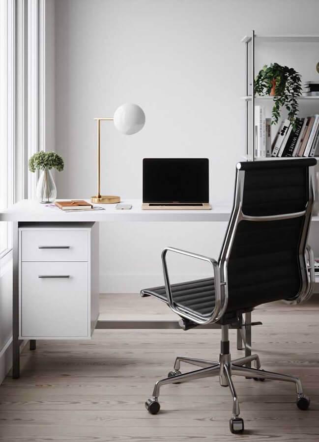 mesa de escritório simples com gavetas Foto Pinterest