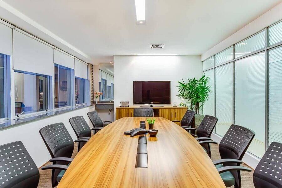 mesa de reunião para escritório Foto Raduan Arquitetura