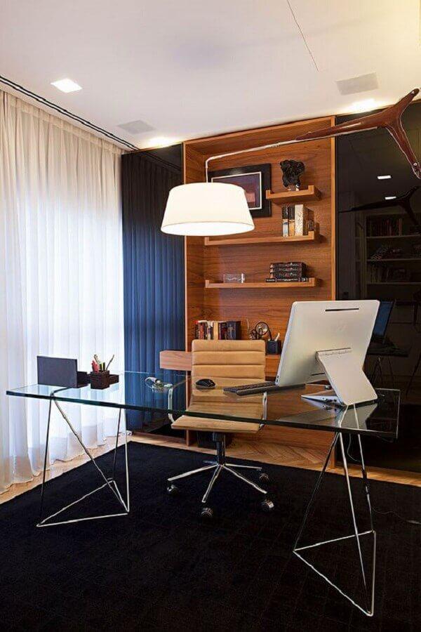 mesa de vidro para escritório planejado Foto Casa de Valentina