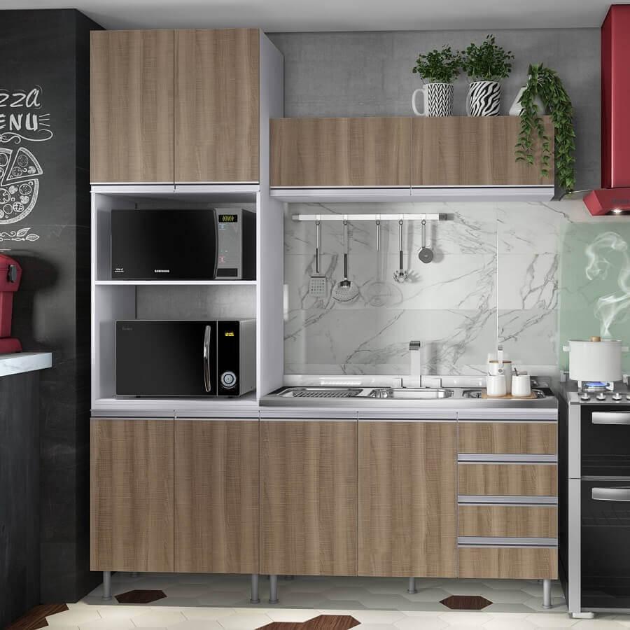 modelo de armário para cozinha modulada pequena Foto Pinterest