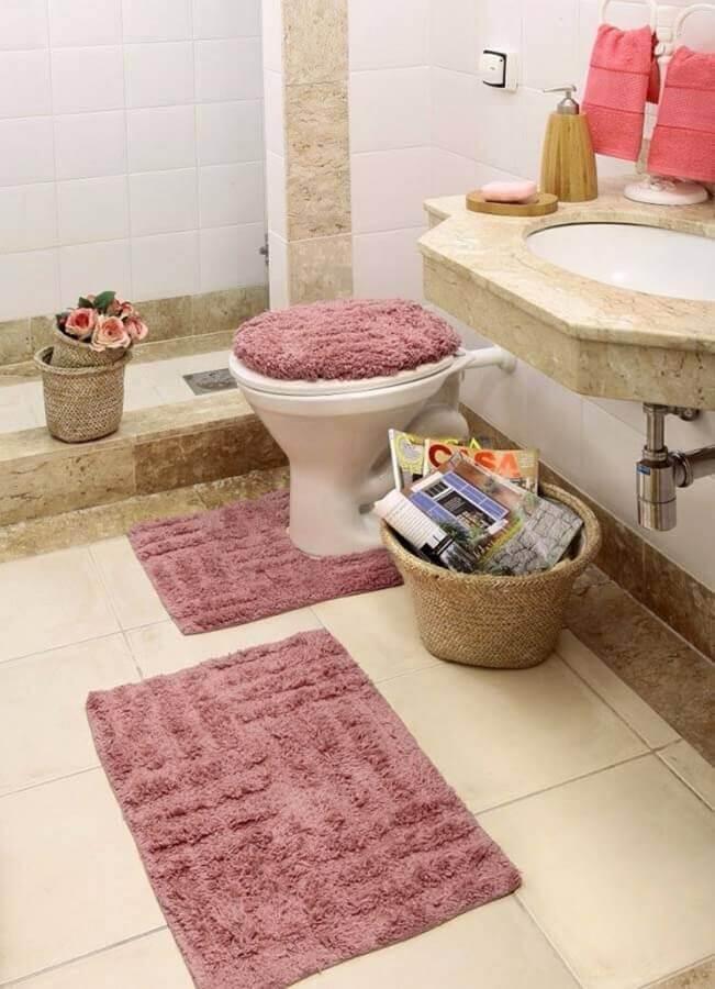 modelo de jogo de banheiro de tecido Foto Home Fashion Trend
