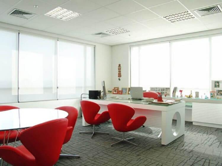 modelo de mesa de escritório branca com design moderno Foto Pinterest