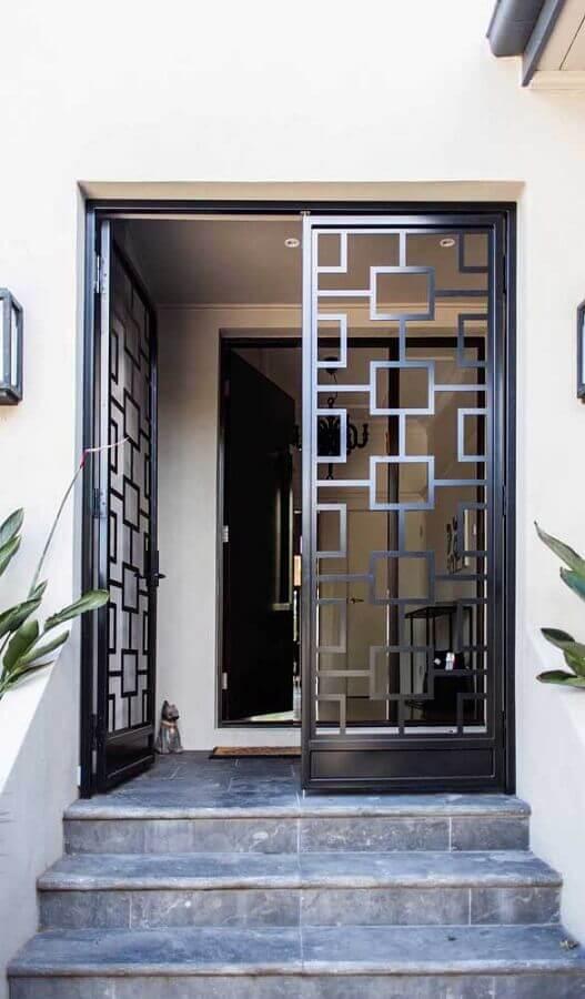 modelo diferente de porta francesa de alumínio Foto Pinterest