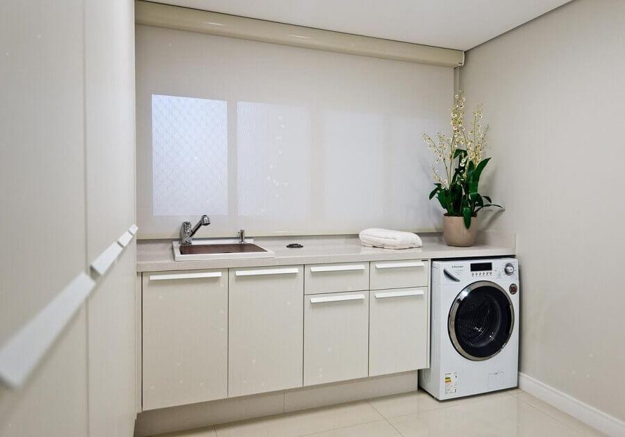 modelos de lavanderia planejada toda branca Foto Archdesign Studio