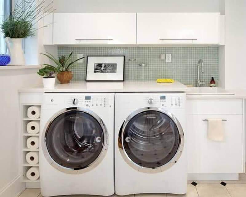 modelos de lavanderia simples e pequena Foto Liam Santos