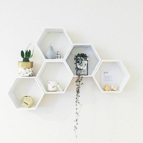 nicho colmeia decoração