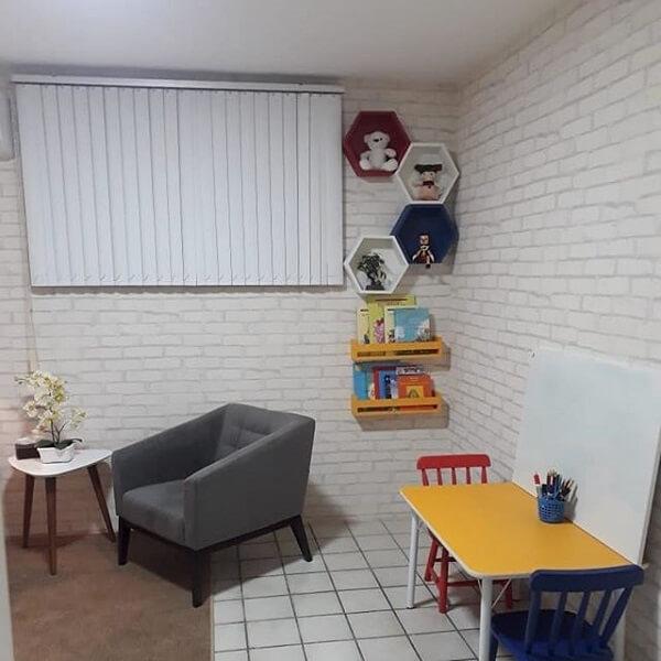nicho colmeia na parede