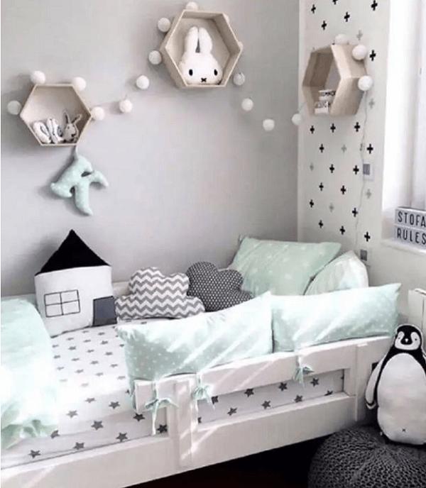 nicho colmeia quarto infantil