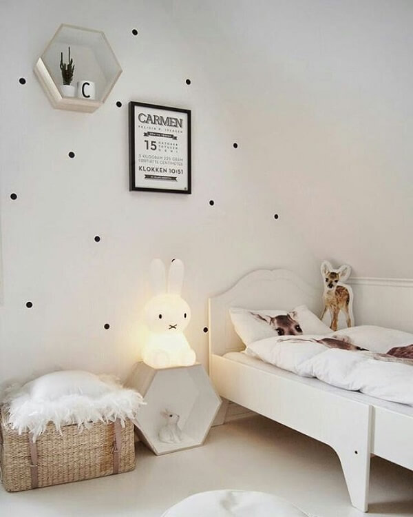nicho colmeia quarto moderno