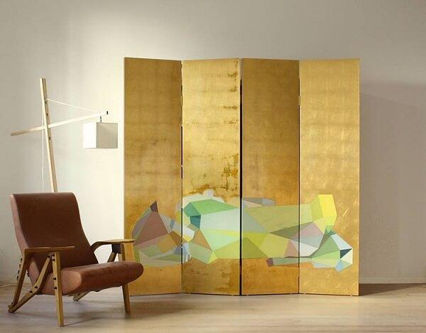 O biombo pode se tornar protagonista na decoração