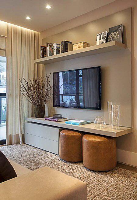 Escolha um painel para tv que seja funcional para o seu dia a dia