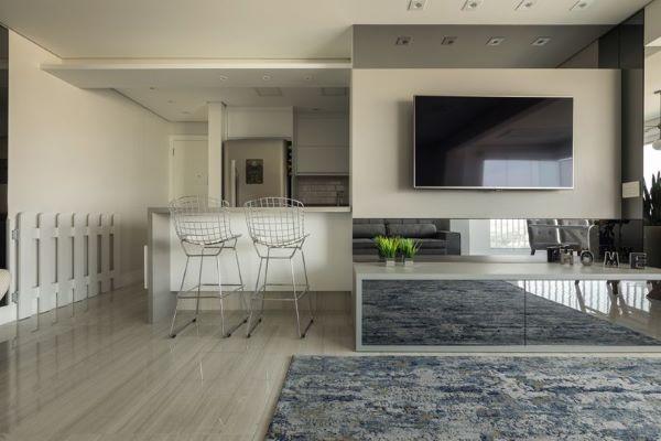 O painel para tv pode ser usado em todos os ambientes da casa