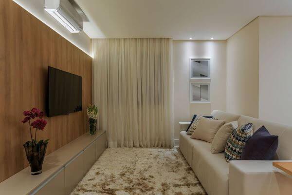Painel para tv de madeira