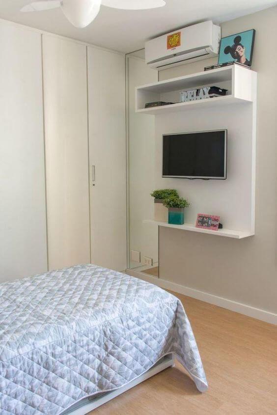 Painel para tv no quarto pequeno