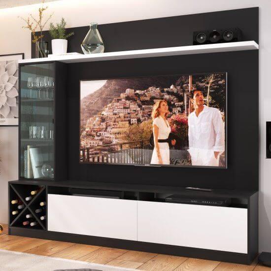 Painel para tv preto e branco