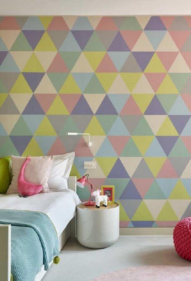 papel de parede colorido para quarto de menina simples Foto Pinterest
