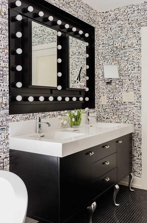 papel de parede para banheiro preto e branco Foto Home Fashion Trend