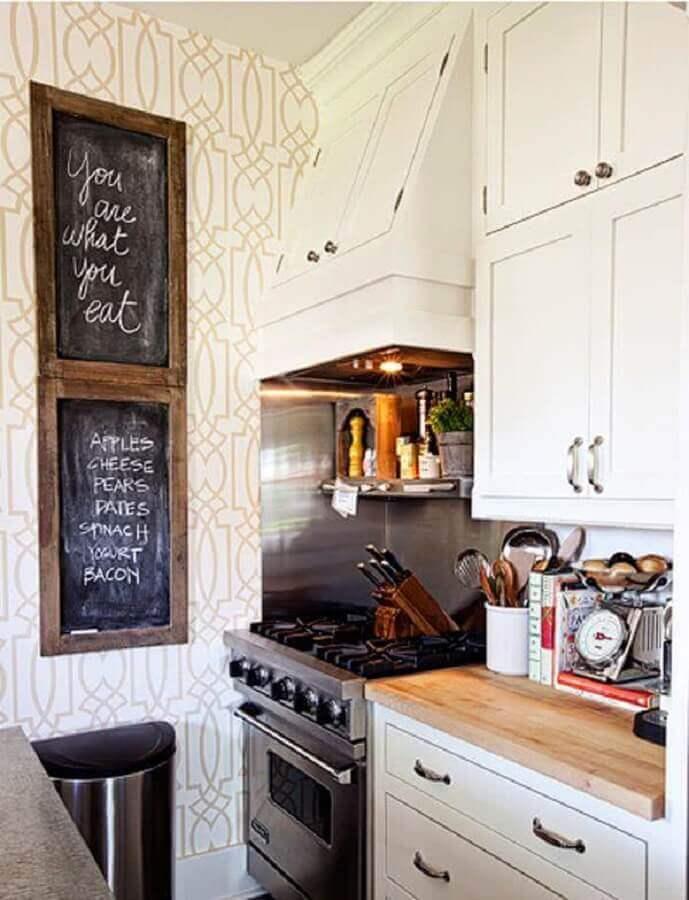 papel de parede para cozinha decorada Foto Ideias para Decorar