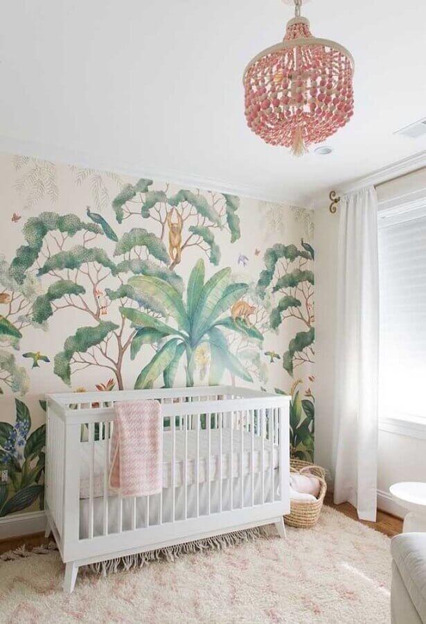 papel de parede para quarto de menina bebê Foto Houzz