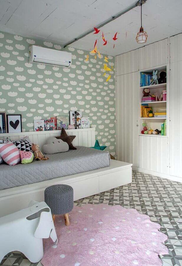 papel de parede para quarto de menina com decoração lúdica Foto Ultimas Decoração