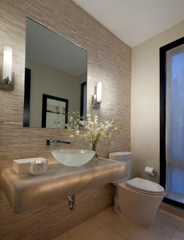 pia de banheiro de vidro translucida