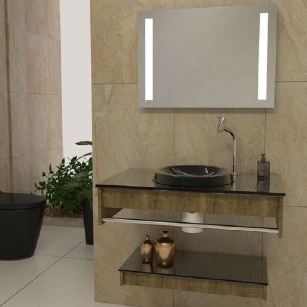 pia de banheiro de vidro lavatório
