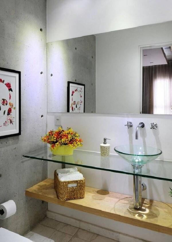 pia de banheiro de vidro e bancada de vidro