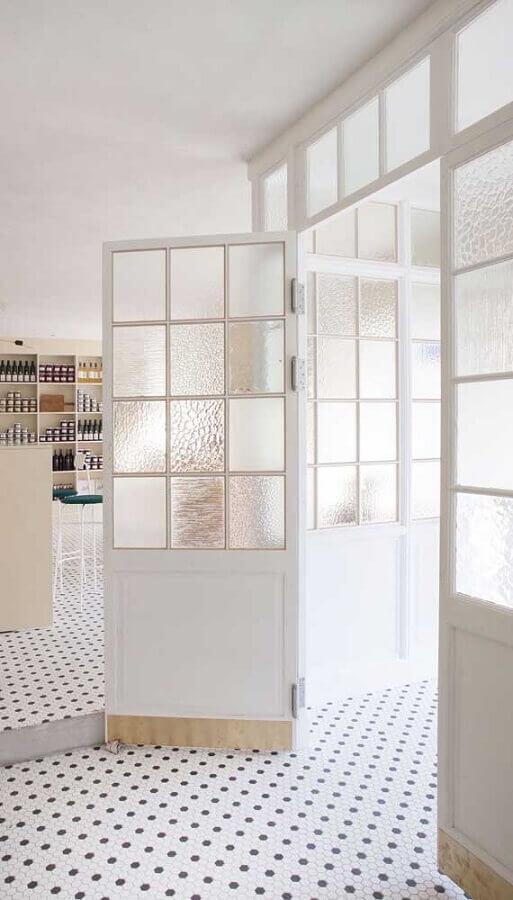 porta francesa branca com vidro Foto Pinterest