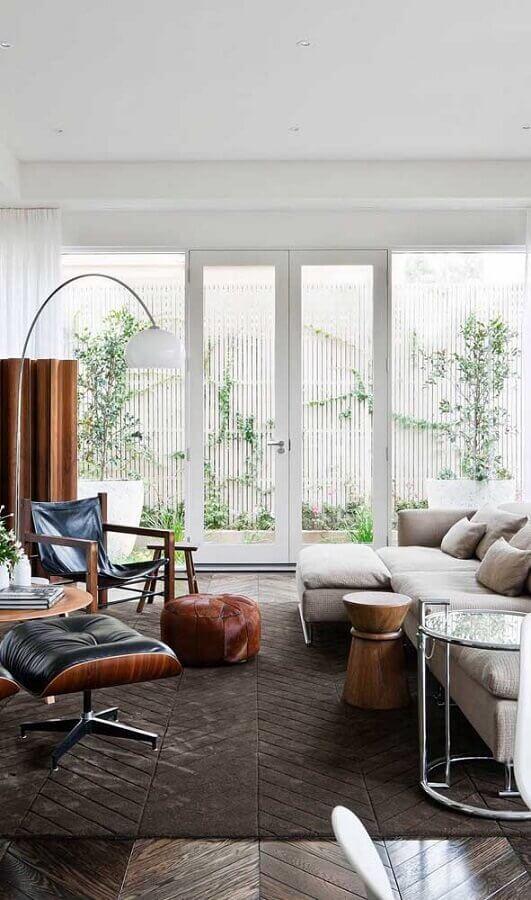 porta francesa branca com vidro para sala de estar Foto Pinterest