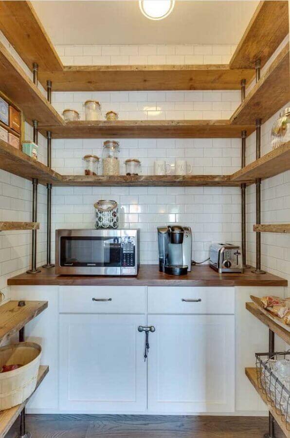 prateleira de canto para cozinha simples Foto Pinterest