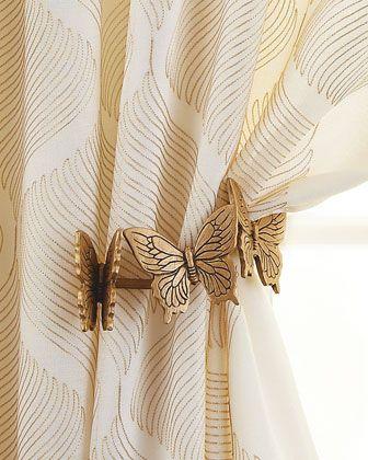 Prendedor de cortina de borboletas