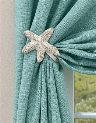 Prendedor de cortina estrela do mar