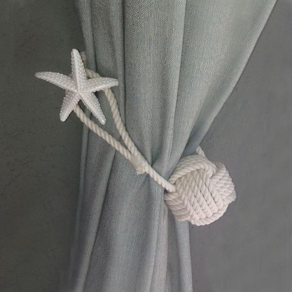 Prendedor de cortina artesanal