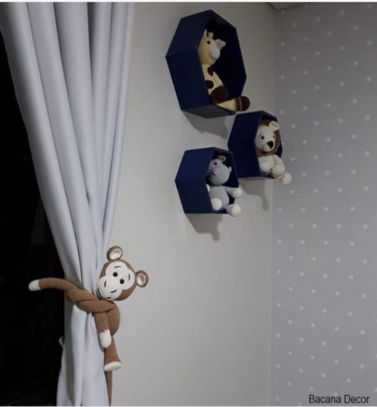 Prendedor de cortina infantil