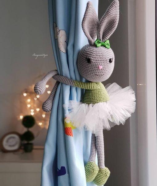 Prendedor de cozinha de crochê no quarto infantil