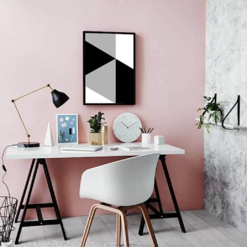 quadro abstrato geométrico para decoração de home office Foto Pinterest