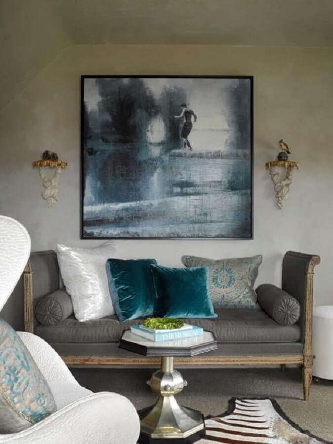 quadro abstrato para decoração de sala simples Foto ArchZine