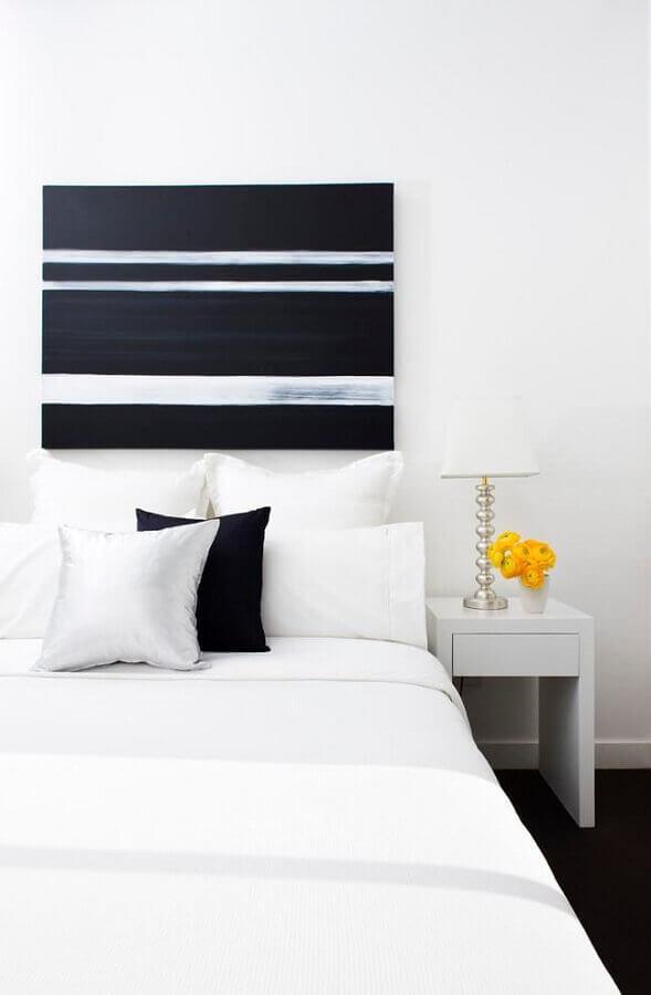 quadro abstratos geométricos para decoração de quarto todo branco Foto Pinterest