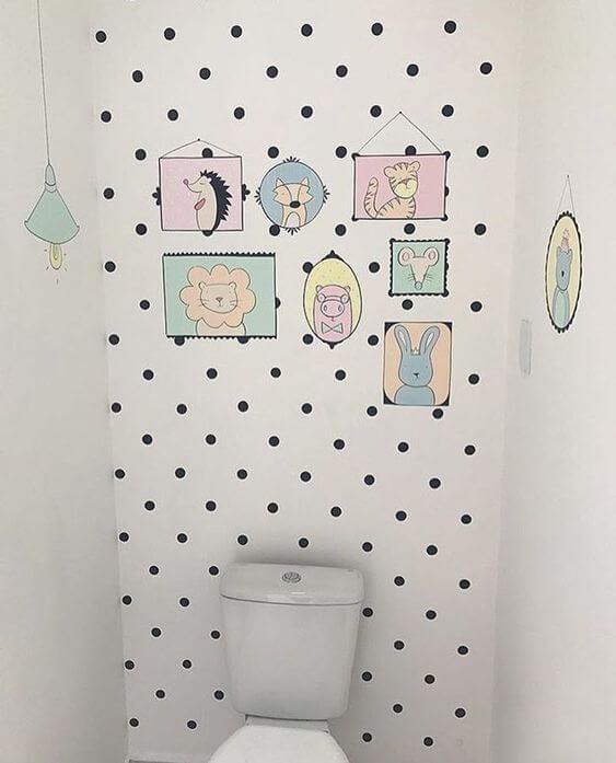 Quadros divertidos para banheiro infantil