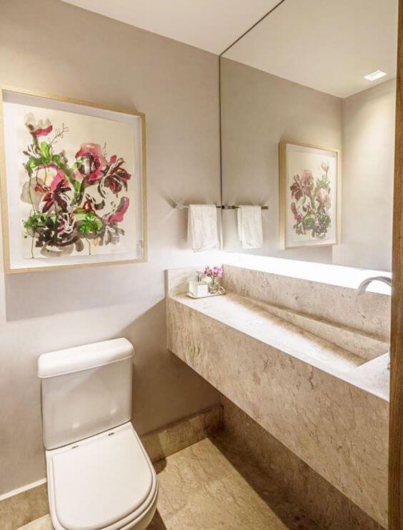 Quadros para banheiro clássico