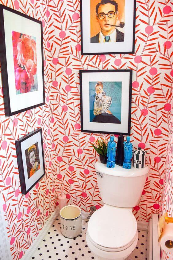 Quadros para banheiro colorido e moderno