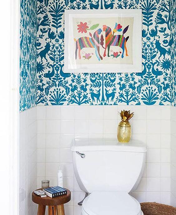 Quadros para banheiro colorido