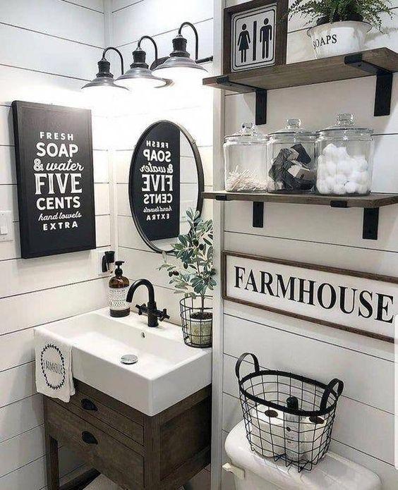 Quadros para banheiro com frases e detalhes modernos