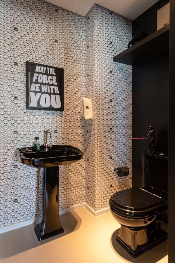 Quadros para banheiro do tema star wars