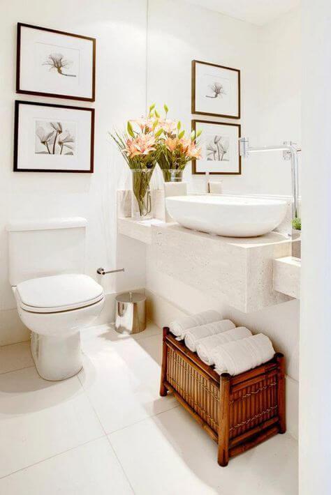 Quadros para banheiro com flores