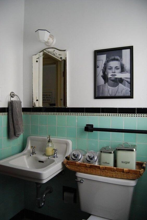 Quadros para banheiro vintage e divertido