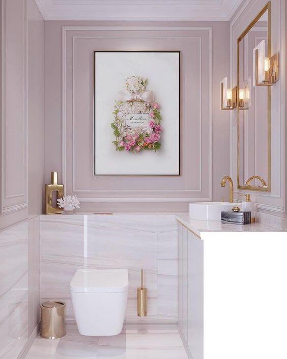 Quadros para banheiro feminino delicado