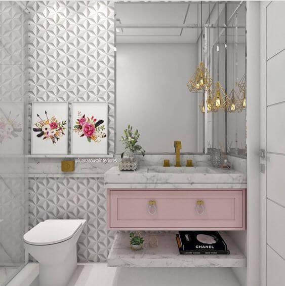 Quadros para banheiro feminino florais